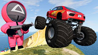Incredible Cars Long Jumps & Crashes - Random Vehicles Destruction in Ramp [BEAMNG DRIVE MODS]