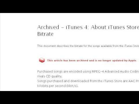 How-To Lower Bit Rate In Itunes