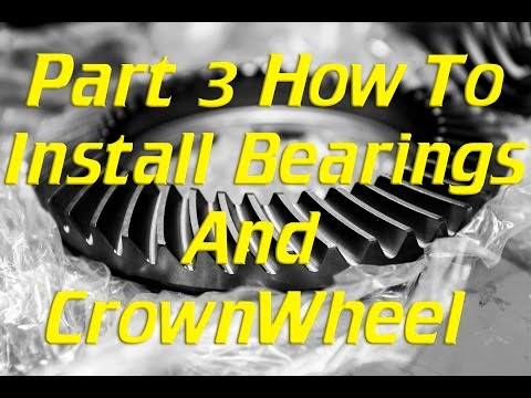 How to install Bearings & Crownwheel in a landcruiser diff with ARB locker. Part 3