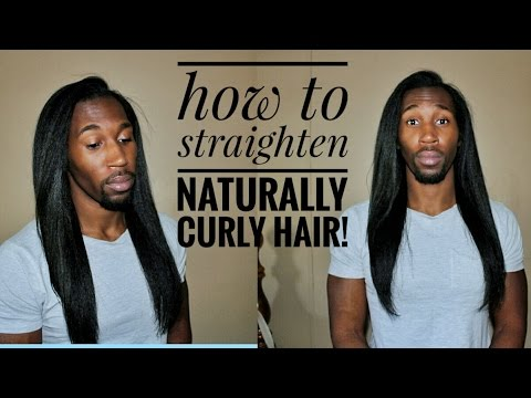 How to Flat Iron Naturally Curly Hair