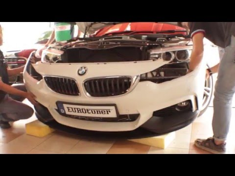 BMW F36 428i GranCoupe  ///M Performance Front Lip And Dry Carbon Fiber Door Handle