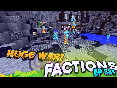 Minecraft Factions #331 - Huge Warp PvP War! (Minecraft Raiding)