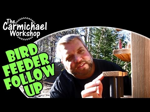 Saloon Bird Feeder Follow Up - Outdoor Woodworking Project
