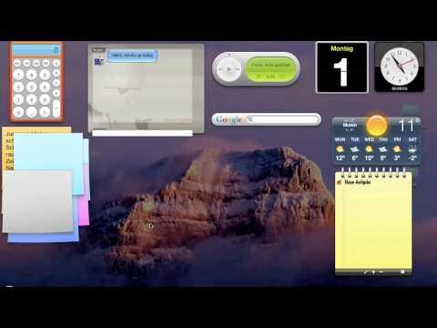 Mac Tutorial - Widgets im Dashboard installieren