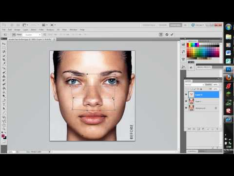 photoshop tutorial-how to give someone a nose job