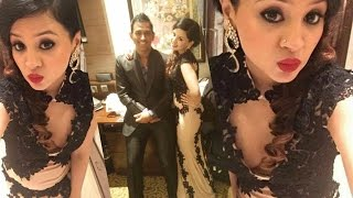 MS Dhoni's Wife Sakshi Rawat Hot At Harbhajan Singh & Geeta Basra Wedding Reception !!