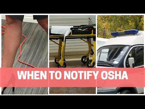 When Does An Employer Notify OSHA?