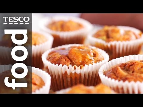 How to Make Spiced Pear and Apple Muffins | Tesco Food