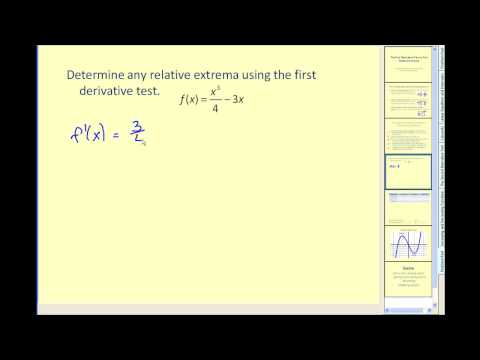 Finding relative extrema using the first derivative