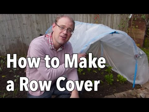 Hoop House: How to Make a Row Cover Tunnel