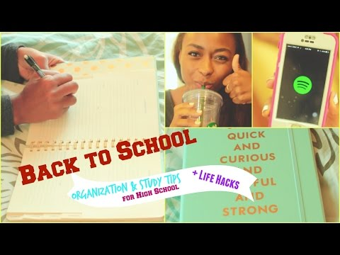 BACK TO SCHOOL // Organization, Study Tips, & Life Hacks for High School