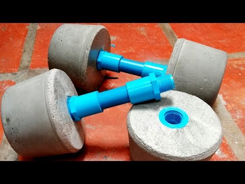 How to make mini dumbbels cement gym home/Great working