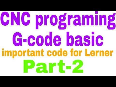 How to learn CNC program(Most important CNC G-code see)#EP-2