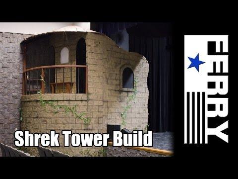 Ⓕ Making styrofoam look like brick/stone - Shrek theater build (ep2)