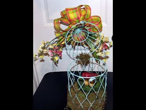 Birdcage Centerpiece Great gift for mothers day