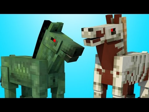 How To Spawn Skeleton and Zombie Horses - Minecraft Tutorial