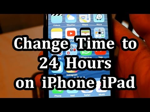 Change Time to 24 Hour Military Time on iPhone or iPad