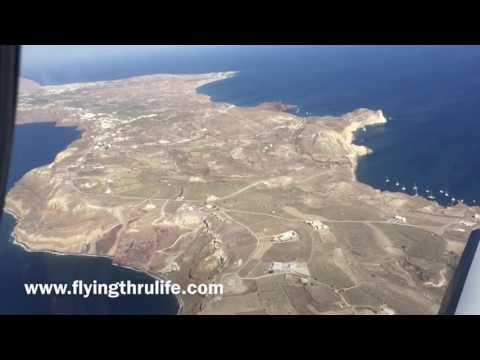 Flying the Greek Island of Santorini!