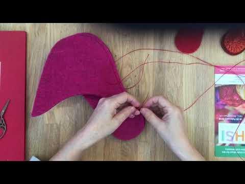 How to Stitch Joe's Toes Felt Slippers