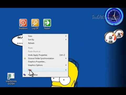How To: Make a Log Off, Shutdown and Restart Shortcut on the Desktop