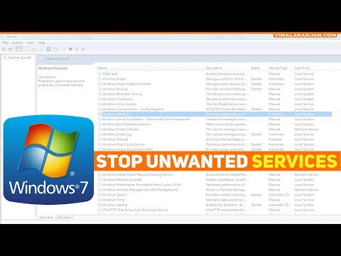 Windows 7 how to stop unwanted services!