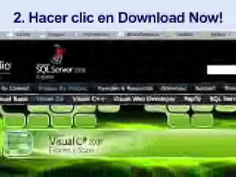 Cómo bajar el instalador de Visual C# 2008 Express Edition