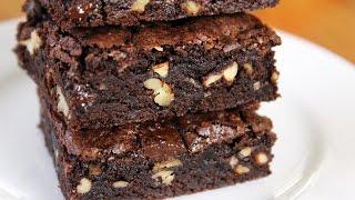 Dark Chocolate Fudge Brownies - Easy recipe / No butter