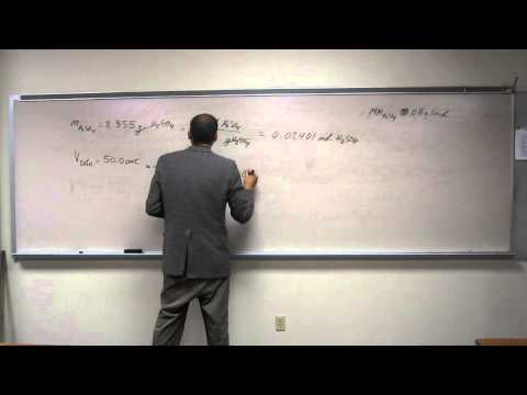 Calculate Molarity From Mass and Volume 003