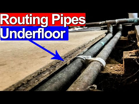 ROUTE COPPER PIPES UNDER A FLOOR - Job Report