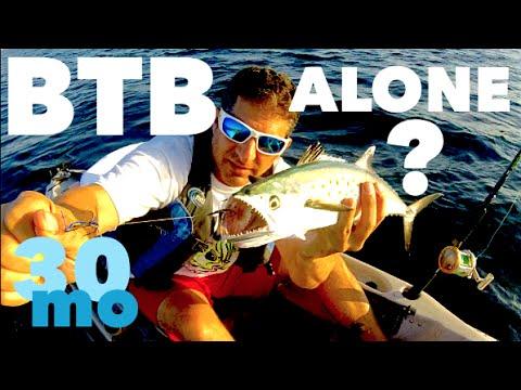 Solo Kayak Fishing Pensacola Florida for Spanish & King Mackerel