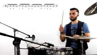 """Drums Lesson """"analysis Pat Torpey"""" Marco Fiorenza Lezione su groove rock """"take cover"""" MR.BIG"""