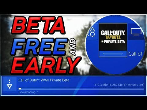 COD WW2 FREE BETA ACCESS & EARLY DONT WAIT PS4