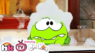 Om Nom Stories: Bath Time | Cut the Rope | Funny Cartoons for Children - HoopaKidz TV
