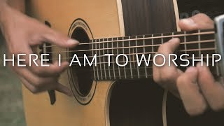 Here I Am To Worship - Tim Hughes (Fingerstyle Guitar Cover by Albert Gyorfi) [+TABS]