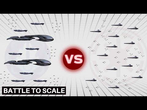 High Charity Escort Fleet vs Coruscant Defense Fleet   The Covenant vs The Republic (Star Wars)