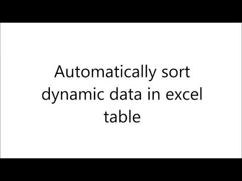 How automatically sort columns in excel table with macros/VBA code included