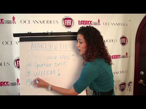 MarlyQ Tips - How to Get Sponsors for your Event