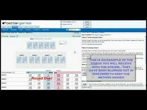 Betfair System - Exchange Games Poker & Blackjack System