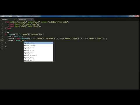 PHP cURL Tutorial #4: Post Files To Server Using CURLFile Class