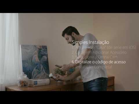 Instalando câmera de vigilância de vídeo D-Link Omna Cam 180 ™ HD compatível com a Apple HomeKit