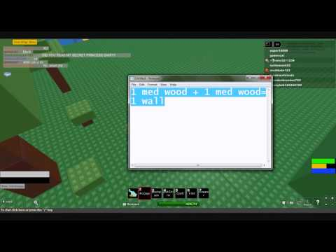 ROBLOX: Survival 404 How to make a gun (arbalest)