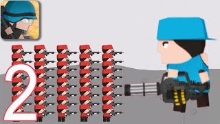 CLONE ARMIES - Walkthrough Gameplay Part 2 - LEVELS 6-7 (iOS Android)