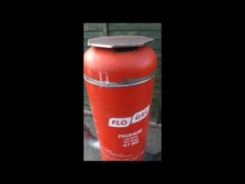 Gas Bottle Rocket Stove