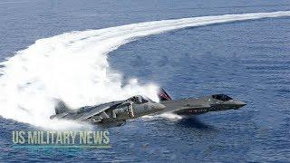 Incredible: F-35B vs AV-8B Harrier II Short Takeoff & Vertical Landing