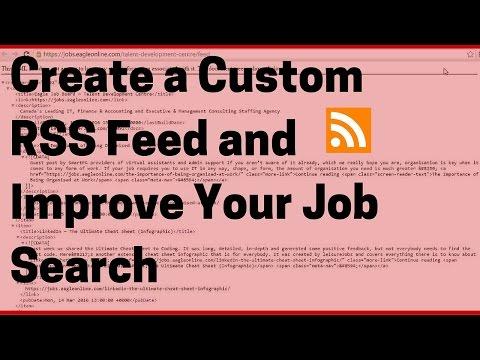 How to Create a Custom RSS Feed