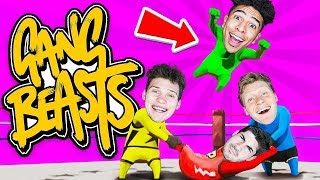 HILARIOUS Last to Leave Game! w/ 2HYPE House - Gang Beasts