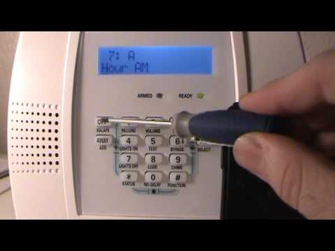 How to adjust clock - change time - For Honeywell Lynx Plus keypad