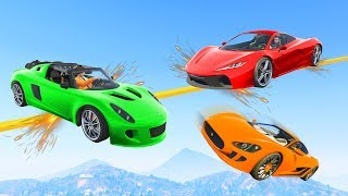 HARDEST TIGHTROPE CHALLENGE EVER! - GTA 5 Funny Moments