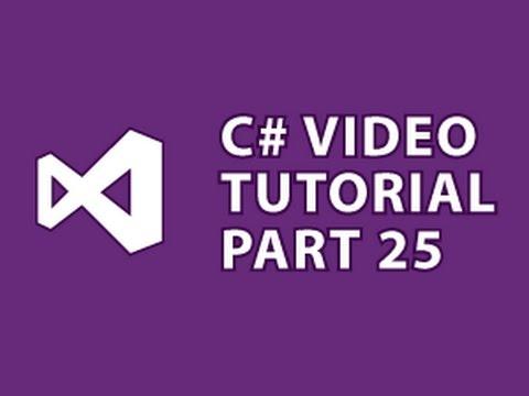 C# Tutorial 25 C# Databases