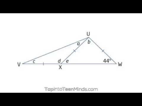 Finding Missing Angles in Isosceles Triangles | Problem Solving Using Geometric Relationships